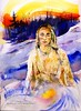 Mother of Snows (Art and Nature-Mike Sherman) Tags: christmas art cemetery grave watercolor painting studio advent catholic maria madonna mary jesus marker christianity religous
