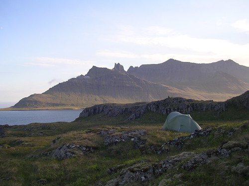Camping in the Eastfjords, Iceland