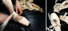 old / new (Adriene Hughes) Tags: ballet diptych balletshoes danceshoes toeshoes adrienehughes softservegirl