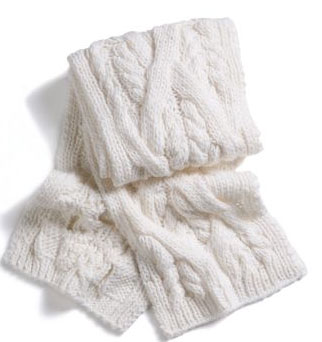 EXPRESS: SCARF - CHUNKY CABLE KNIT