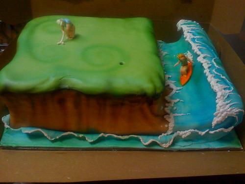 Golf/ Surf Honeymoon Cake