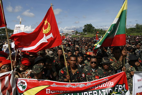 File photo of Moro National Liberation Front members who gathered in Davao City on March last year. Mindanews File Photo by Keith Bacongco