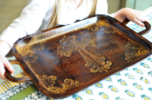 cross serving tray