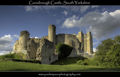 Conisbrough Castle (Paul Simpson Photography) Tags: uk castle turrets eveninglight southyorkshire englnad stonebuilding englishheritage conisbroughcastle may2011 paulsimpsonphotography