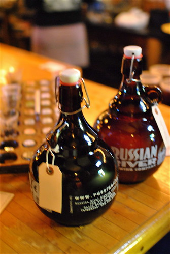 two growlers to go at Russian River