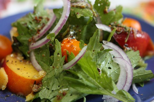 Nectarine Salad with Tarragon Mustard Vinaigrette
