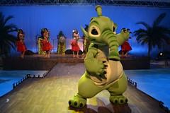 Felix dances at Stitch's Hawaiian Paradise Party (Castles, Capes & Clones) Tags: paris france felix disney hawaiian disneylandparis disneycharacters marnelavallée lilostitch disneyvillage stitchshawaiianparadiseparty