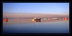 A time to reflect (flickrzak) Tags: colour water boats flat lancashire cumbria morecambe teehee irishsea wartoncrag errrmmboat ermmmmmmmmlots andmoreboats erandjustforachangeerrrrrrrboats