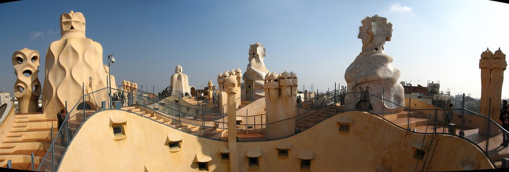 Casa Mila - Gaudi's works on the Rooftop