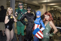 Heroes and Villians (edlimphoto) Tags: sanfrancisco costume cosplay claw bow fist hero comicbook superhero whip shield arrow 2008 captainamerica catwoman poisonivy blackcanary villian wondercon greenarrow supervillain edlimphoto