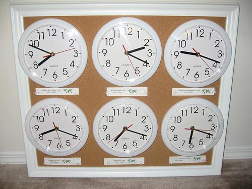 World Clock Wall Board