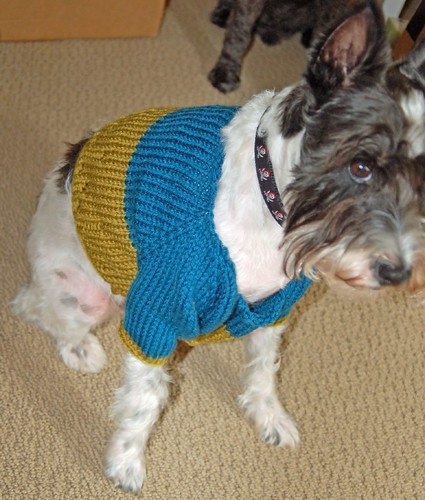 Hurley models a sweater