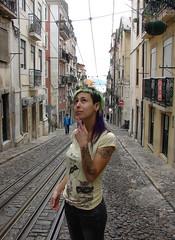 inês_thoughtfull (wip-hairport) Tags: green hair punk ines lisboa lisbon bodylanguage da tatoo elevador bica dyedhair hairport femalehairstyle