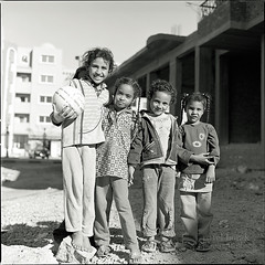 Five Girls (Vincnt) Tags: life girls friends travelling 6x6 smiling zeiss happy five group egypt streetphotography documentary shy hasselblad squareformat barefoot bunch orient bashful natives vincentvega 500cm ilfordid11 fujineopanacros100 unshod ilfordrapidfixer nikonsupercoolscan9000ed planar8028t pavelhork wwwpavelhorakcom withplaits