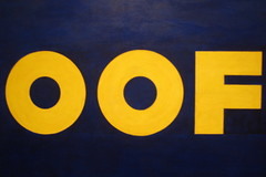 NYC - MoMA: Edward Ruscha's OOF (wallyg) Tags: nyc newyorkcity newyork art museum painting manhattan modernart moma museumofmodernart popart gothamist oof edwardruscha aia150