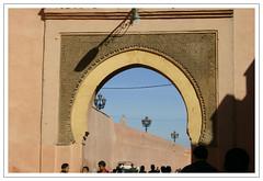 Marrakecher Stadtmauer (biribinker) Tags: africa morocco maroc marrakech afrika tor marokko afrique bab stadtmauer laternen mahgreb  lakoutoubia schneiderreisen