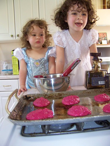 13 of 30: Making pink pancakes