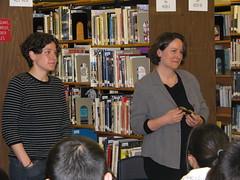 Gillian and Shaena at Gladstone Secondary