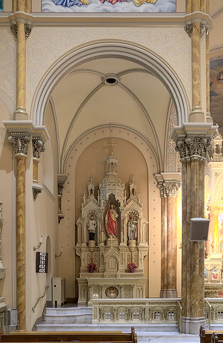 Saint Anthony of Padua Roman Catholic Church, in Saint Louis, Missouri, USA - Altar to the Sacred Heart
