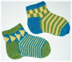 Chippy Socks in Worsted-weight yarn