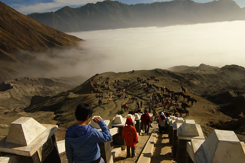 Looking down from the Bromo peak