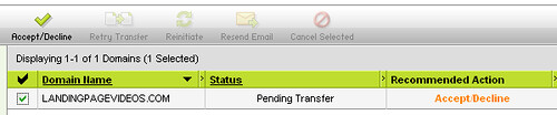 accept transfer