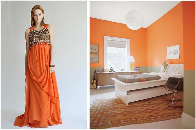 orange fashion bedroom dress khaki exotic domino nicolemiller