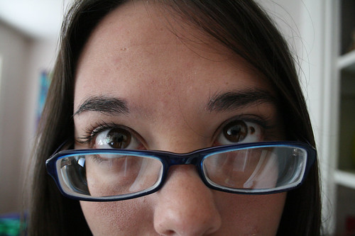 nerd alert: new glasses, blue frames