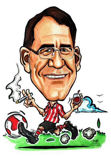 Caricature for HSBC Southampton FC wine cigarette