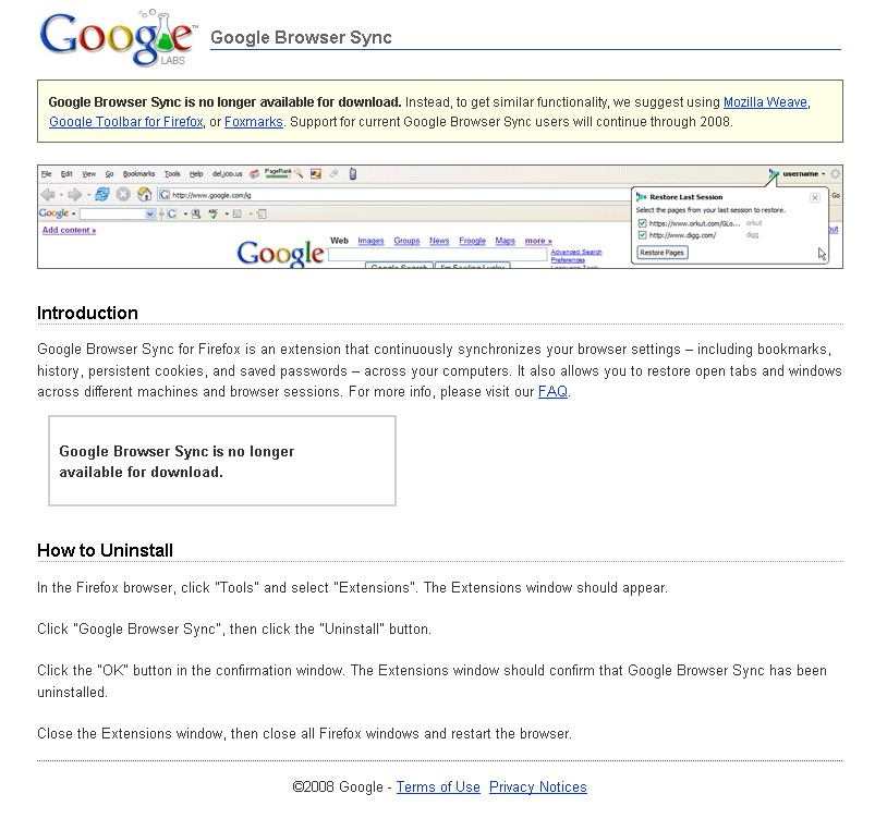 good bye google sync