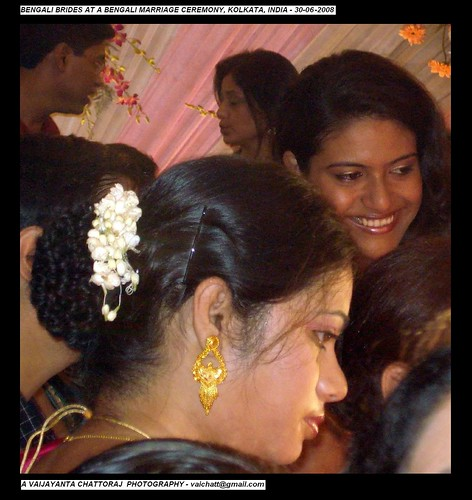 Bengali Brides at Bengali Marriage Ceremony
