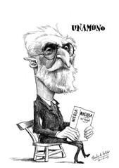 UNAMUNO, Miguel de (Morales de los Ríos) Tags: writers caricaturas philosophers caricatures escritores filósofos