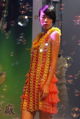 condom fashions - orange