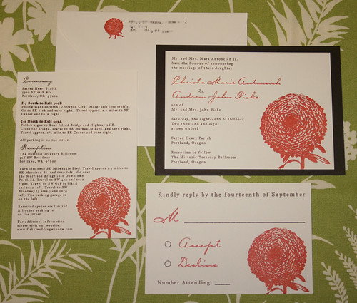 Wedding Invitations - Christa and Andrew, Wedding Invitations style, wedding cakes, flowers, invitation, photos, gowns, dresses