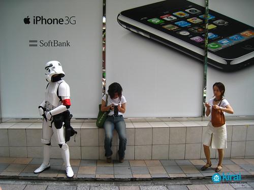 Los Soldados Imperiales también quieren su iPhone [Foto+Video]