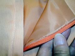 machine sewn lining