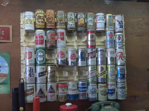 Beer can display