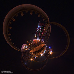 King Fahd Rd Planet, Riyadh, Saudi Arabia (Ayman Aljammaz) Tags: light panorama tower by night canon magazine stream king you ninja competition 360 made oasis saudi winner planet riyadh efs fahad rd 1022  ayman stereographic     nodal   anoud  nn3 40d      aljammaz