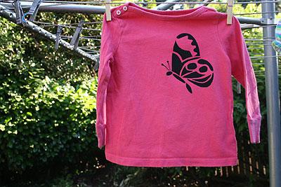 Butterfly Stencil Shirt