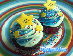 Cute   star ({ Qupcake }) Tags: food ice cake stars star yummy colours yum heart sweet chocolate cupcake sprinkles hart truffle waw suger qatar     truffy   qupcake