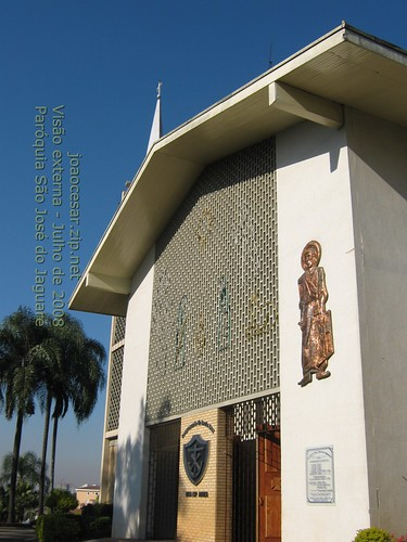 Paroquia Sao Jose do Jaguare - Fachada em julho de 2008