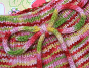 "Freckle Flippy Skirt on ""Strawberry Fields"" Bambewe worsted--72 hour auction"
