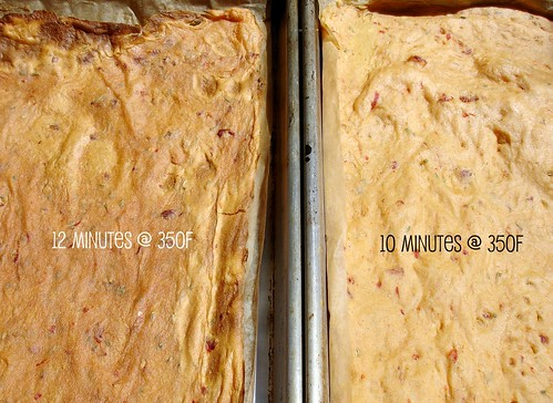 GF Sun-dried tomato wrap - Baking Time comparison