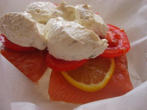 Saumon, Boursin Cuisine et Tomates