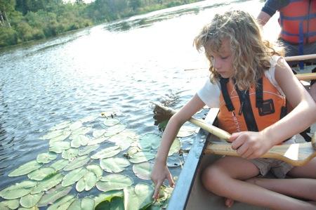 Emma paddles