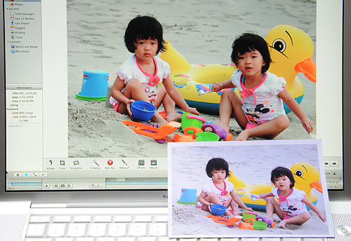 Print of Renice and Renee matches closely to what I see on the screen