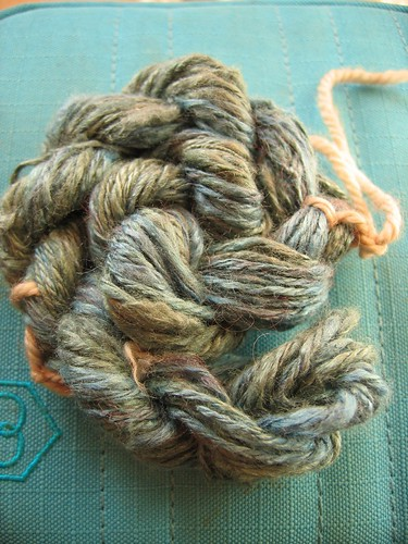 Silk for spinning, spun.