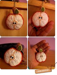 MINI APPLE idia da minha amiga El do pedao de amor. (Sugar'drop ) Tags: apple colours crochet maa chaveiro colorido croche