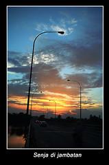 senja di jambatan (abghero) Tags: bridge sunset senja manir