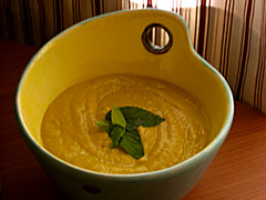 Curried Carrot & Avocado Soup - Raw